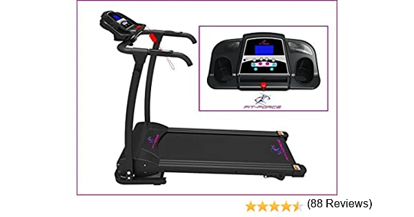 FIT-FORCE Cinta de Correr Plegable 1500W 0-14 kmph Entrada MP3 y ...