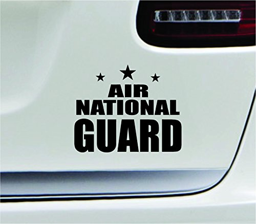 - Air national guard 5.4x4.3 black government air guard militia air force USA united states color sticker state decal vinyl - Made and Shipped in USA