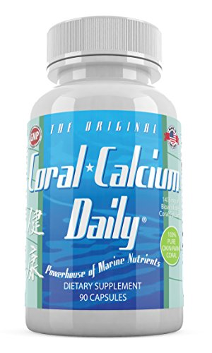 Coral Calcium Daily Marine CoralCal 1475mg The Original Pure Okinawan 72 Trace Minerals 90 Capsules(1)