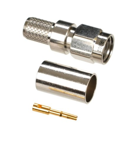 AIR802 Reverse Polarity SMA (RP-SMA) Plug or Male Crimp Connector for AIR802 CA240, Times Microwave LMR240 and Equivalent Size ()