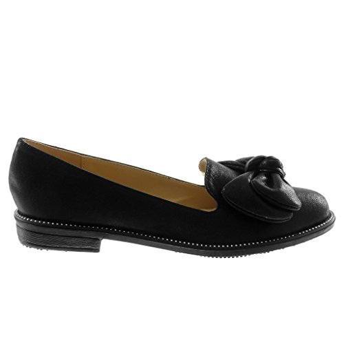 moda tacón Arcos On brillante cm Zapatos 2 para Bloque Slip 5 de Tachonados Angkorly mujer Negro Mocassins 5wn0T07q8U