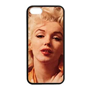 Famous Star Marilyn Monroe Pattern Protective Phone Case Cover, Custom Case for iphone5 5S (Laser Technology)