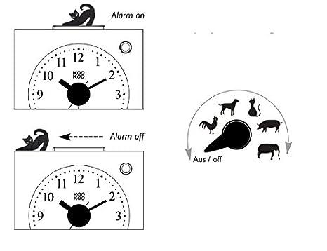 KOOKOO KidsAlarm verde despertador para niños incluyendo 5 animales ...