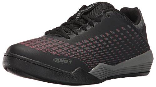 Scarpa Da Basket Bassa And1 E 1 Uomo Bassa Ascendenza Nera / Canna Di Fucile Rossa