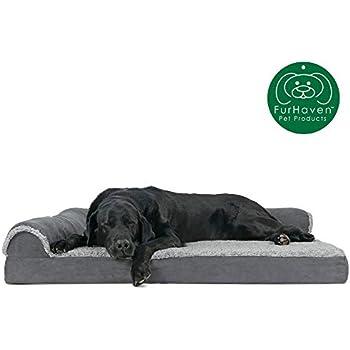 Sensational Amazon Com Furhaven Pet Dog Bed Deluxe Orthopedic Plush Machost Co Dining Chair Design Ideas Machostcouk