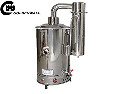 cgoldenwall Control automático acero inoxidable máquina eléctrica de agua destilada agua Destilador \, agua libre