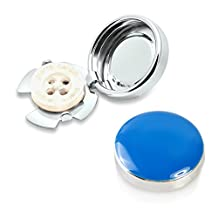 Blue & Silver Button Covers - The Stylish Accessory for Regular Shirts