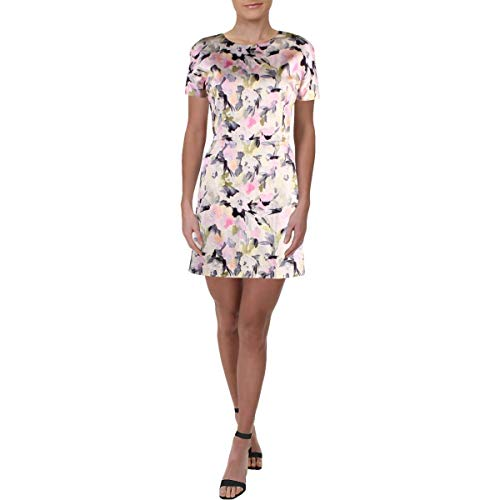 French Connection Print - French Connection Women's Printed Cotton Dresses, Powder Pink, 6
