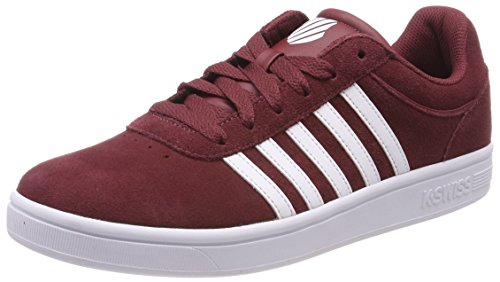 K Swiss Sneakers White EU Noir Basses 43 SDE Court Oxblood Cheswick Homme Rouge TTdwr4