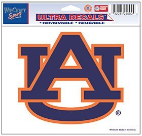 Auburn Tigers Removable 4.5x6 Multi Use Ultra Car Decal