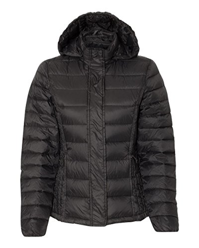 Weatherproof - 32 Degrees Women's Hooded Packable Down Jacket - 17602W - L - Black