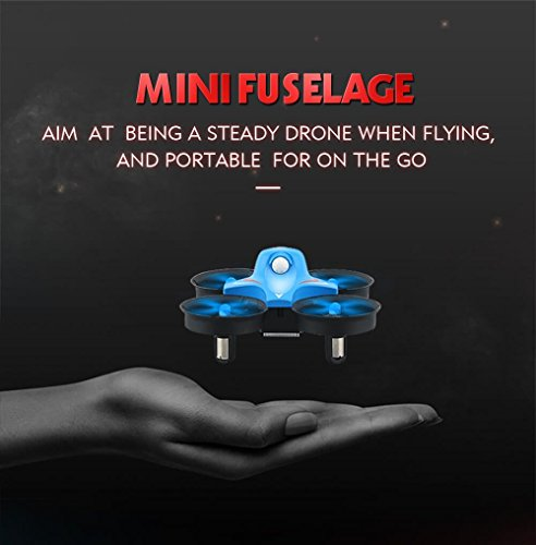 REDPAWZ R010 Mini Drone 2.4G 4CH 6 Axis Gyro Headless Mode RC Quadcopter RTF - Blue