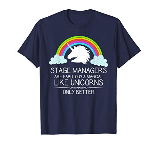 Stage Manager Shirt for Women Men & Assistant SM Unicorn