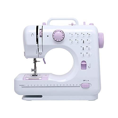 DONYER POWER Electric Sewing Machine Portable Mini with 12 Built-in Stitches, 2 Speeds Double Thread, Embroidery,Foot Pedal Best for - Sewing Machine Beginner Best