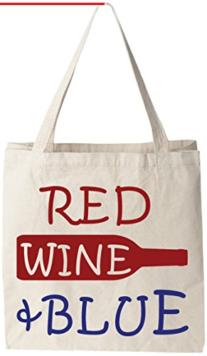 Red Wine Blue Reusable Groceries