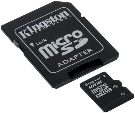 Kingston SDC10/16GB - Tarjeta Micro SDHC de 16 GB, Clase 10, con Adaptador