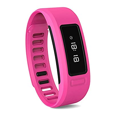 Smart Bracelet, YAMAY® Bluetooth Smart Band Fitness Tracker for Android iOS iPhone Text Message Caller ID Activity Tracker Pedometer Sleep Monitor Calories Burned for Walking Running Women Men Pink