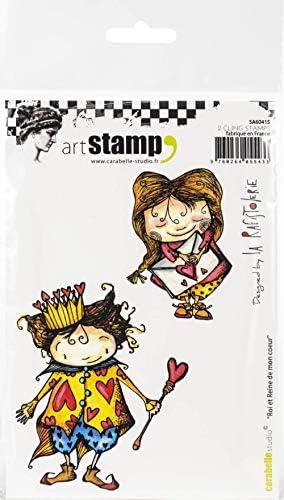 Carabelle Studio クリングスタンプアートスタンプセット King and Queen of My Heart ペーパークラフト/スタンププロジェクト/カード作成/スクラップブック用