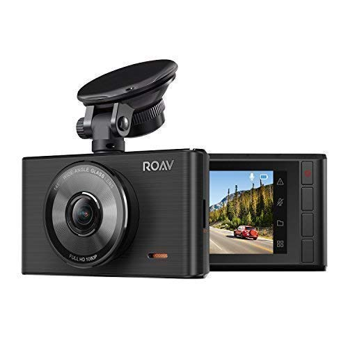 Roav by Anker Dash Cam C2, FHD 1080P, 3' LCD, 4-Lane Wide-Angle View Lens, G-Sensor, WDR, Loop Recording, Night Mode, 2-Port Charger, No Wi-Fi or App