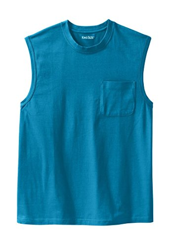 Boulder Creek Men's Big & Tall Heavyweight Pocket Muscle Tee, Classic Teal Classic Muscle Tee