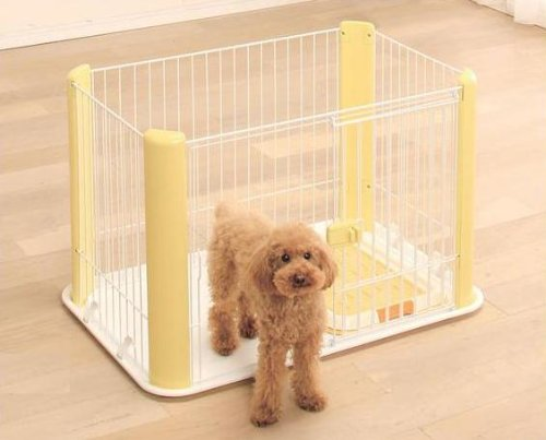 IRIS Wire Pet Pen, Multiple Colors Available (Yellow) by IRIS Ohyama