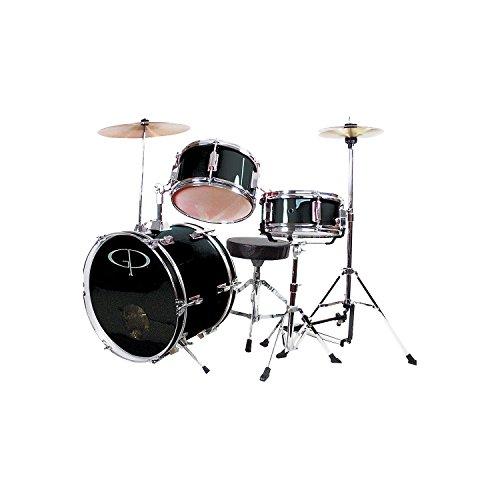 [해외]GP 퍼커션 컴플리트 3 피스 주니어 드럼 세트 - 블랙/GP Percussion Complete 3-Piece Junior Drum Set - Black