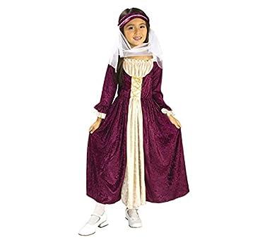 Disfraz de Chica Medieval 5-7 años para niña: Amazon.es: Ropa y ...