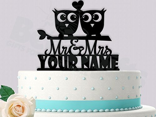 Fine Amazon Com Cute Love Owls Wedding Cake Topper Handmade Personalised Birthday Cards Sponlily Jamesorg