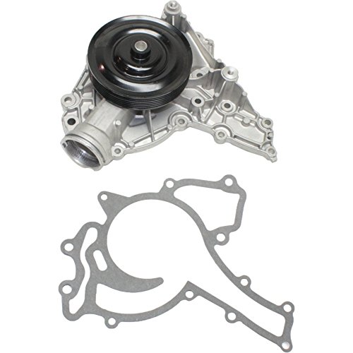 Evan-Fischer EVA1637281517 New Direct Fit Water Pump for Mercedes Benz C-Class 06-12 E-Class SLK-Class ML350 R350 06-11 Mechanical Gasket and Pulley Included Standard Rotation