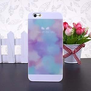 WQQ patrón de mosaico belleza cielo blanco de plástico duro caso para el iphone 6