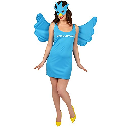 Morphsuits Women's Morphcostume Co Female Social Media Queen Costume, Sky Blue, Large