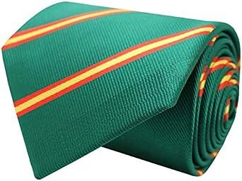 MasGemelos - Corbata Seda Bandera España Diagonal Verde: Amazon.es: Ropa y accesorios