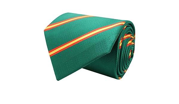 MasGemelos - Corbata Seda Bandera España Diagonal Verde: Amazon.es ...