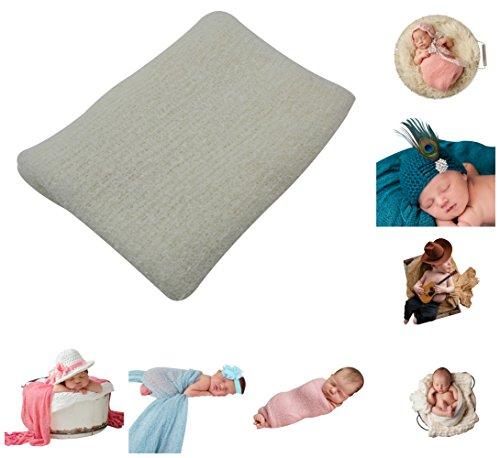 JLIKA Newborn Baby Photography Photo Prop Stretch Rayon Wrap (Ivory)