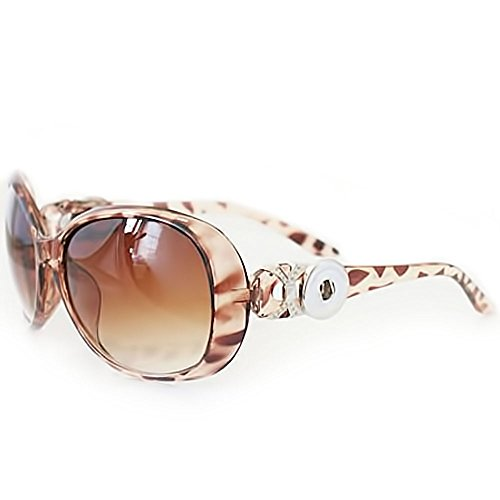 Lovmoment New Sunglasses Snap with 2 Buttons Fit 18-20mm Snaps Jewelry