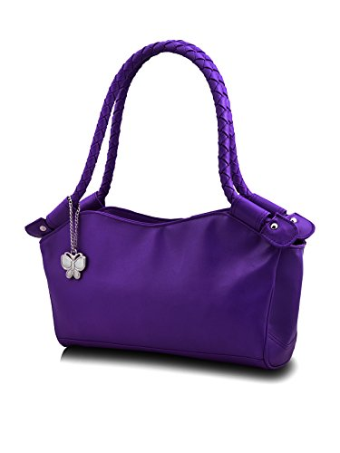 Butterflies Women's Handbag (Blue) (BNS 0304BL)