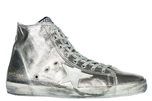 GOLDEN GOOSE Zapatos Zapatillas de Deporte largas Hombres EN Piel Nuevo Francy Plata EU 44 G32MS591 B15