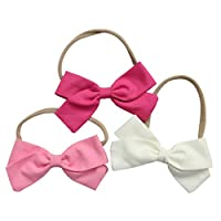 Cute Baby Hair Bows | Baby Girl Headbands Set with Soft Nylon for Baby Girls ...