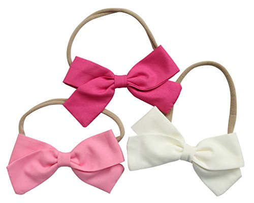 Cute Baby Hair Bows | Baby Girl Headbands Set with Soft Nylon for Baby Girls Head (Nylon Hair Band)