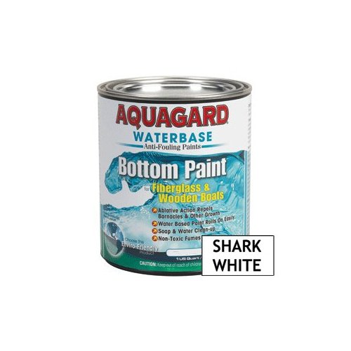 Aquagard Waterbased Anti-Fouling Bottom Paint - 1Qt - Shark White (Best Bottom Paint For Fiberglass Boats)