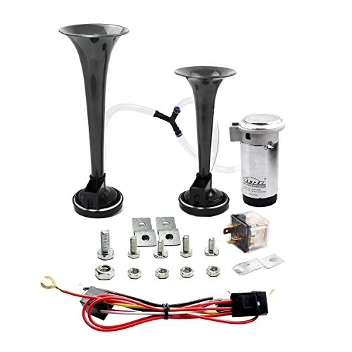 GAMPRO 12V 135db Dual Trumpet Air Horn Kit with Two Trumpets and Compressor for...