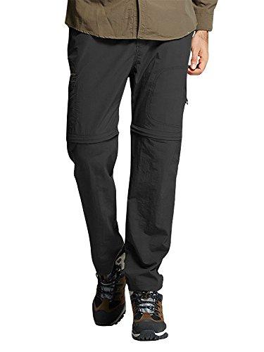 Jessie Kidden Mens Quick Dry Convertible Cargo Pant#2088,Black,US L