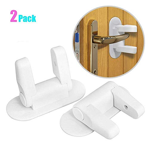 AT01002WH06 Furniture Toilets and Doors and Easy Install with 3M Adhesive Aturi Baby and Toddler Safety Latches for Cabinets Set of 6