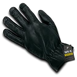 Rapdom Tactical Leather Shooting Gloves, Black, Large