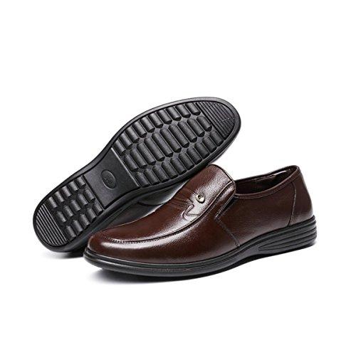 LYZGF Hommes D'âge Moyen Printemps Et Automne Affaires Loisirs Mode Dad Chaussures En Cuir Brown 7jy3sG