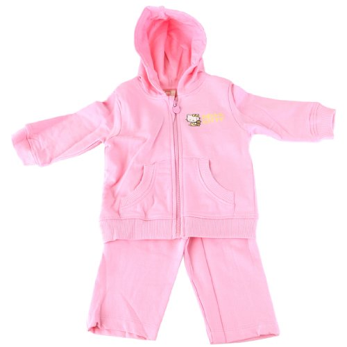 Hello Kitty Little Girls' 2 Piece Hoodie and Pants Jog Set -