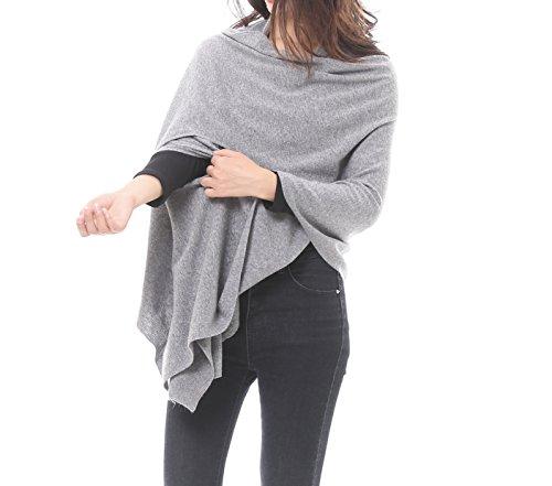 Knit Wrap - Bruceriver Women's Wool Blended Versatile Multi Style Long Knit Scarf Size XS/S (Light Gray)