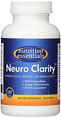 Neuro Clarity - All Natural Brain Function Booster! Super Ginkgo Biloba complex with St John's Wort, and Bacopin - Improve Mental Clarity, Focus, Memory and Concentration! Reduce Stress and Anxiety! Pharmaceutical grade BRAIN GAIN and NEURO ENHANCEMENT in