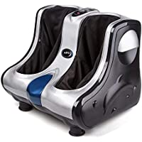 V Care leg massager machine for pain relief and Foot Massager (Silver-Black)