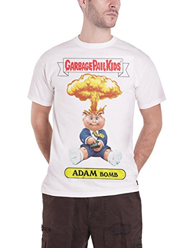 Garbage Pail Kids T Shirt Adam Bomb Explosion Logo Official Mens White Official Logo Fashion Tee